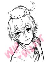 W.I.P. Commission Sample Isana Yashiro by DizzyT