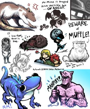 SKETCHDUMP OF ALL CAPS TITLE by spookydoom
