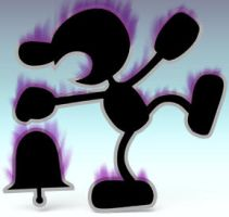 False Mr. Game and Watch by Wolfgerlion