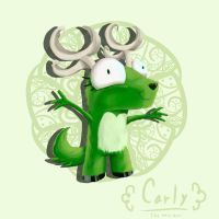 Carly the moss deer by RandyRBluewolf