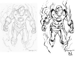Inking Ron Garney's Iron Man by IanJMiller