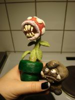 piranaha plant and Goomba by plms