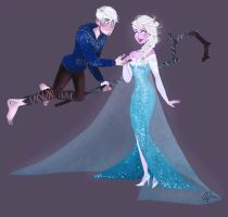 Jack Frost X Elsa by LilMoony