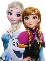 Elsa, Anna, and Olaf - Vector by Simmeh