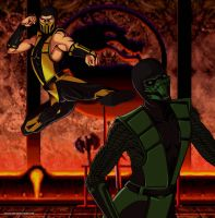 Scorpion vs Reptile by Grace-Zed