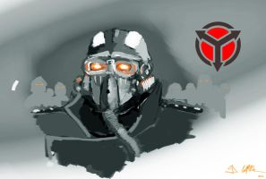 proud helghast soldier by gofik