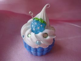 Blue Starberry Cupcake by Lustfulwish