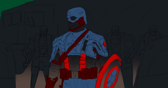 Day 288-Captain America WIP 2 by Dan21Almeida95