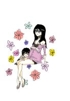 -Sketch Pregny Rukia and Tensa by teodoralovesteo