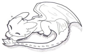 Sleeping Toothless by Starshall
