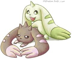 Terriermon Lopmon by sapphireluna