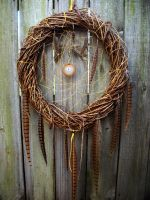 Large Dream Catcher with Pheasant Feathers by xsaraphanelia