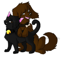 Catty and Doggy by Sligslogg