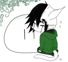 Sleepy Ulquiorra w Dango~ by Kabuto4Ever