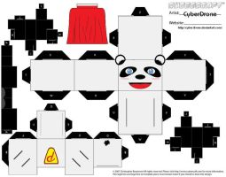 Cubee - Hero Panda by CyberDrone