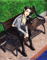 Waiting in the park by AlienTormentor