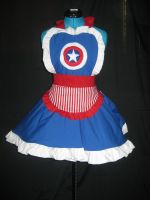 Captain America Inspired Cosplay Apron by DarlingArmy