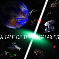 A Tale of Three Galaxies Alternate Poster by FacepalmPunch