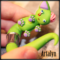 Zombie Ear Kitty plugs by Artalyn