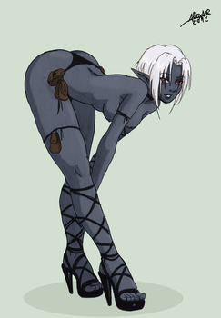 Drow Exotic Dancer by Shabazik