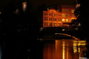 Norrkoping by night by DreamerArtworx