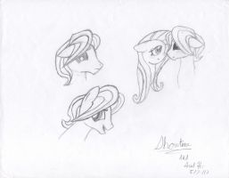 Early Sketches of  Butterscotch by ShowtimeandCoal