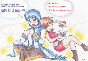 For my Friend:KAITO and MEIKO by Yang-Mei