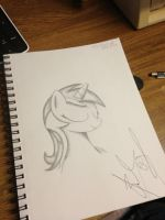1 hour sketch of lyra heartstrings by Sketchy1987