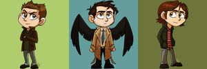 Supernatural Character Keychain Designs by Nicay