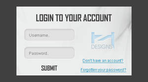 Grunge Login Box - Free PSD by Henerz-Design