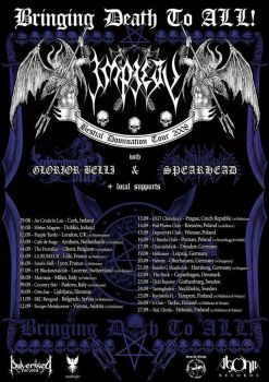Impiety Bestial Tour poster by Perversor