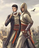 Malik and Altair by HawkeyeWong