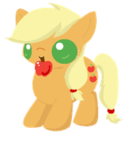 Chibi Applejack by Blood-Charm