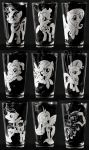 MLP:FIM Engraved Pint Glasses by Clinkorz