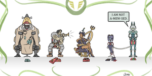Skullgirls Encore Cast Christmas Gift Handout by ITZ-M3-DAVE