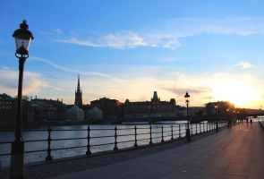 Sunset over Stockholm Sweden by YuukiKoiOokiHyuuga