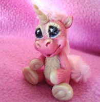 polymer clay pinkie unicorn by crazylittlecritters