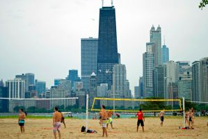 Chicago Beach Volleyball by mity1021