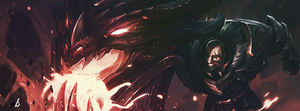 League of Legends Braum Facebook Cover by berXamet