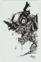 Marvel Zombie Wolverine by Dinuguan