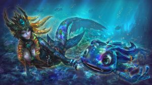 Commission-League of Legend, Nami and Fizz by CGlas