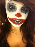 Scary Clown Makeup. by Onii-Jurai