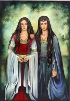 Arwen and Melian by ebe-kastein
