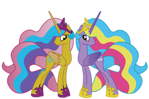 Season 5 Princesses Gold Lily and Sterling by AquaticNeon