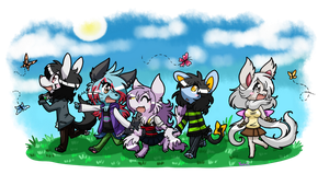 Daiyu and her homies by FENNEKlNS