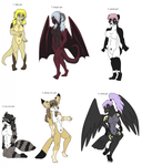 Female furry Adopts by dragonrace