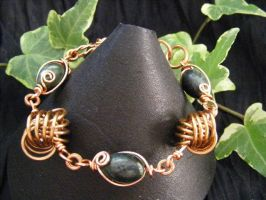 dutch love knot with serpentine bracelet by BacktoEarthCreations