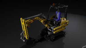 Lego 8047 Compact Excavator by Ineray