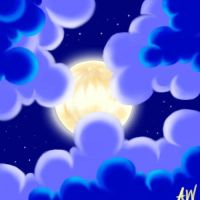 Moon and Clouds by Nabs-chan