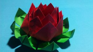 Origami lotus by theInfinityCreeper